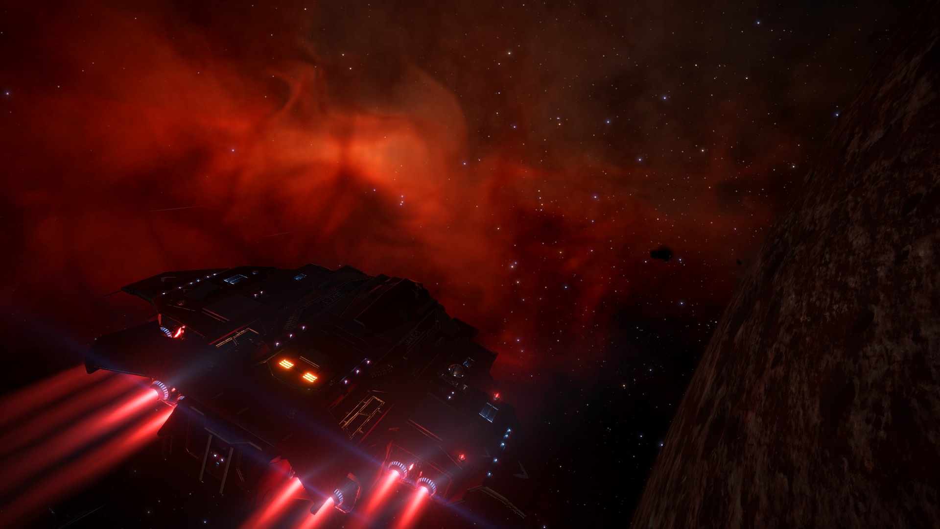 CMDR Jake McGraw of Nova Force Exploring the IC 4604 Nebula